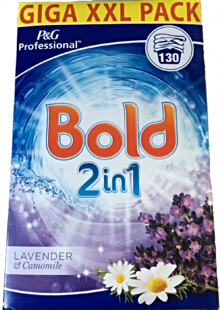 Bold P&G Professional 2in1 Lavender & Camomile Powder 130 Washes 8.450 KG